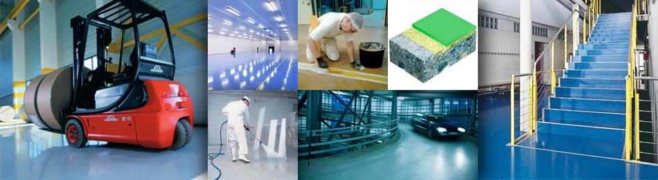 Gulvmaling - Floor coating - Epoxy, acryl og polyurethane