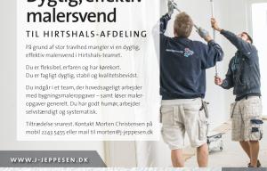 Malerfirmaet Jeppesen søger dygtig, effektiv malersvend til Hirtshals-afdeling