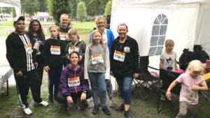 DHL Stafetten 2018 - løbere og familier fra Malerfirmaet Jeppesen