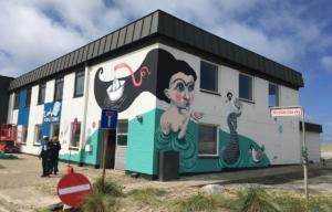 Flot gavlmaleri: Vi sponserer BIBIANA Danmarks nye kunsthus for børn